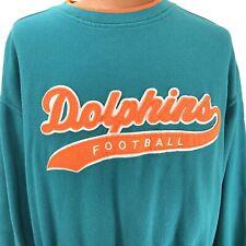 Vintage Miami Dolphins XL NFL Pro Line Starter Crewneck Textured Sweatshirt Teal
