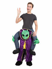 Alien Piggy Back Costume Fancy Dress Costume Outfit Male Mens Adult One Size