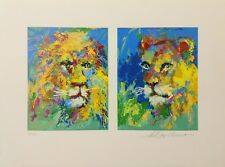 "LEROY NEIMAN  ""LION AND LIONESS"" 2007 