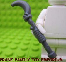 New LEGO Minifig Weapon King HOOK STAFF Moon Stick Dark Blue Gray Castle Hobbit