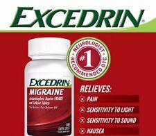 300 Caplets Excedrin Migraine Acetaminophen Aspirin Caffeine Pain Reliever Aid