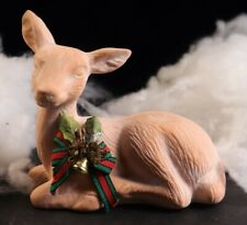 Vintage Ceramic Reindeer Figurine made in Taiwan