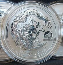 Australia 2012 Year of the Dragon 1 Onza plata Privy Mark silver lunar series oz