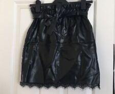 New Look Black Pu Leather Skirt