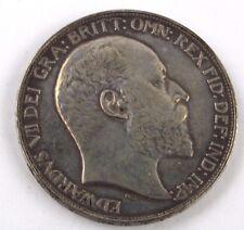 Antico 1902 Re Edoardo VII George & IL DRAGO CORONA MONETA D'ARGENTO - 28.34g