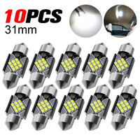 10X 31mm LED Bulbs White Canbus 2016 SMD C5W Festoon Car Interior Dome Map Light