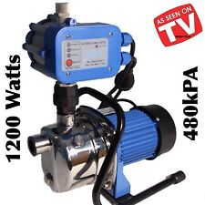 AUTOMATIC 1,200 WATT RAIN WATER TANK GARDEN PUMP HOUSEHOLD CONSTANT PRESSURE NEW