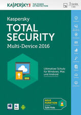 Kaspersky total Security 2017 (3 PC 1 Jahr) - Multi Device