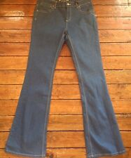 Topshop Moto Flared Jeans Blue Flares Size 12 W30 L32 ~314 Women's New