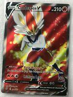 Cinderace V FULL ART ULTRA RARE 178/192 SWSH Rebel Clash Pokemon NM