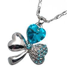 5.10 Ct Heart Cut Style Shape Blue Topaz CZ 18K White Gold Plated Pendant