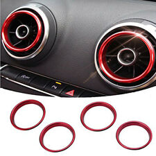 4Pcs Car Interior Air Vent Outlet Ring Cover Trim For Audi A3 S3 2013-2016 UK