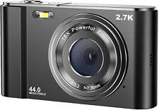 Digital Camera 2.7K Ultra Hd Mini Video Camera 44Mp 2.8 Inch Lcd Rechargeable St