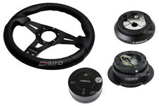 NRG 320mm Sniper L Steering Wheel BK St CF S 100H Hub Gen2.5 BK Release Lock LB