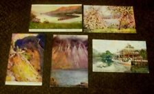 5 X 1910s FURNESS RAILWAY OFFICIAL POSTCARDS SERIES 1, 2, 5 & 6 SEASCALE STATION