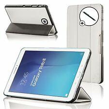 Leather White Folding Case Cover Samsung Galaxy Tab E 9.6 T560 + Stylus