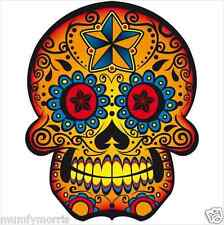 Day of the dead sugar skull tattoo iron on transfer A5