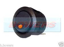12V volt voyant orange lumineux mini round Interrupteur On / Off Voiture Van tableau de bord