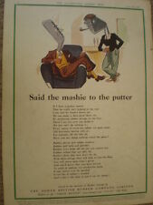 Said the Mashie to the Putter North British Rubber co golf art advert 1942