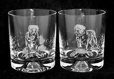 DOGUE DE BORDEAUX *DOG GIFT* Boxed PAIR GLASS WHISKY TUMBLER