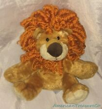 "Rare AURORA PEOPLE PALS Plush Beanie 10"" Honey BABY LION CUB w/Wild Orange Curls"