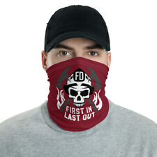 New Fire Department Face Mask/Neck Gaiter Burgundy One Size Free Shipping