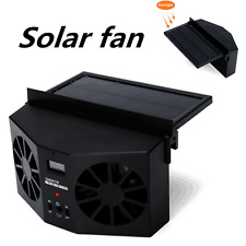 Black Solar Powered Car Window Air Vent Ventilator Mini Air Conditioner Cool Fan