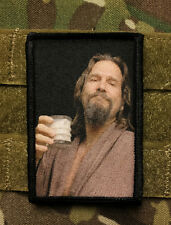 "The Dude ""White Russian"" Morale Patch Tactical ARMY Hook Military Army Funny"