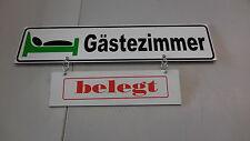 Info-Schild Information Gäste - Zimmer   520 x 110 x 4 mm mit Zusatz frei/belegt