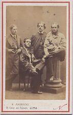 Maunoury Lima Pérou Nadar Paris Carte de visite Vintage albumine ca 1860