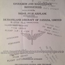de Havilland Moth PT-24 Operating & Maintenance Manual