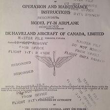 de Havilland Moth PT-24 Operating & Maintenance Manual