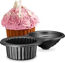 Gourmia GPA9395 Giant Cupcake Pan Double Sided Two Half Design Swirl Top Mold