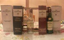Glenlivet Empty Bottles And Boxes Lot 12 , 15 , 18 , 21 Years Scotch Whisky