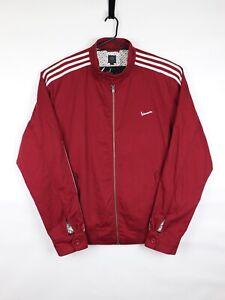 Adidas X Vespa Retro Mens Jacket Full Zip Cotton 3 Stripes Burgundy XL Rare