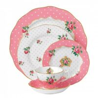 Royal Albert Cheeky Pink 60Pc China Set, Service for 12