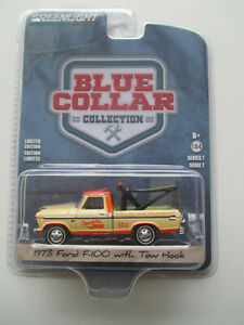 GREENLIGHT EXCLUSIVE - BLUE COLLAR SERIES *1973 Ford F-100 Tow Truck* 1:64 NEW!