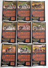 Harley Davidson VA. Instant SV Lottery Tickets Set 9 diff