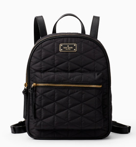 Kate Spade wilson road quilted small bradley Nylon backpack ~NWT~ Black