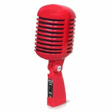 Classic Retro Vintage Style Dynamic Vocal Microphone with 16ft Xlr Cable (Red)