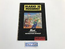 Notice - Mario Is Missing - Super Nintendo SNES - NTSC USA