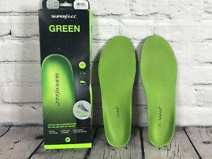 SUPERfeet Green Shoe Insoles SIZE D / Men's 7.5-9 Women's 8.5-10 in Box