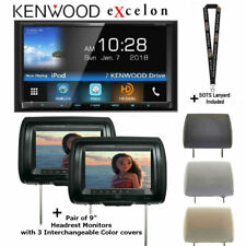 """New listing Kenwood eXcelon Ddx795 6.95"""" Wvga Dvd Receiver w/ Pair of Headrest Monitors"""
