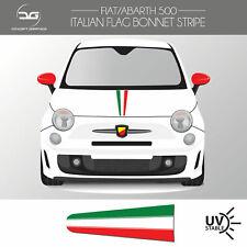 Fiat 500 Abarth Italian Flag Bonnet Stripe Decal Sticker Graphic Scorpion 595
