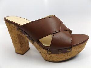 Artisan Womens Carolina Cognac Leather Open Toe Heels Sandals Sz 6.5 M NEW 12246