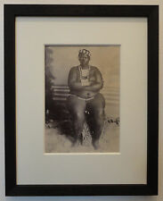 Rare Antique 19th Century Albumen Photo of a Large Black South African Woman