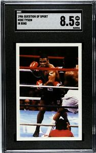 1986 Question Of Sport Mike Tyson In Ring SGC 8.5 NM MT+ Rookie