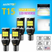 4X AUXITO LED Reverse Backup Light Bulbs 904 921 912 W16W White 6000K Error Free