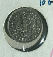 1923 Poland 10 Groszy - Almost Uncirculated