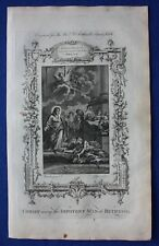 Original antique print CHRIST CURING THE IMPOTENT MAN, Southwell's Bible, 1774